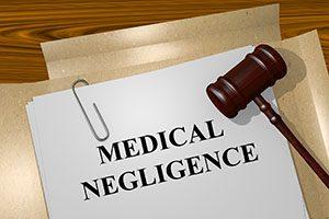 Render illustration of Medical Negligence title on Legal Documents